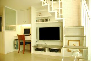 温馨简约时尚小户型复式楼梯设计装修图
