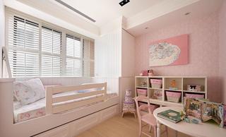 粉色唯美简欧风格儿童房软装装饰效果图