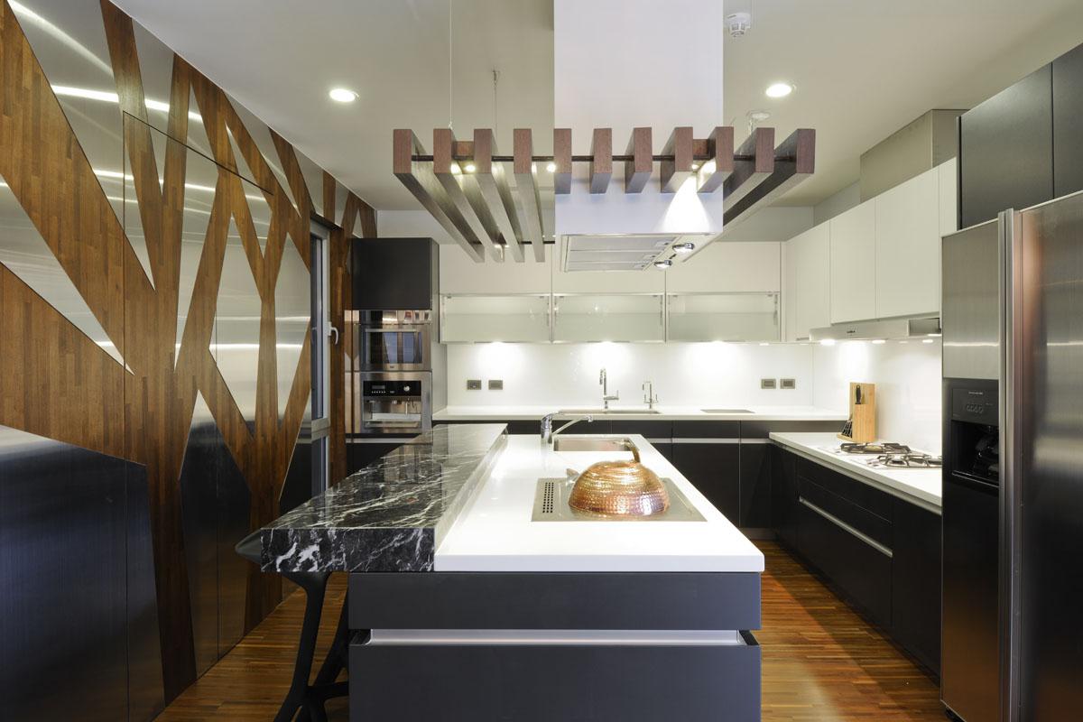 创意现代时尚风整体厨房设计装修图