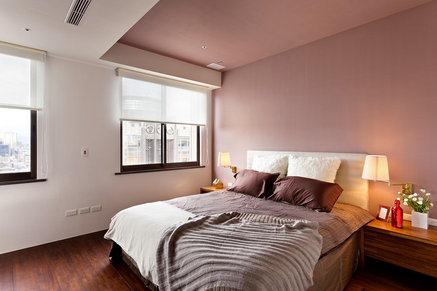 粉色现代装修风格卧室装修欣赏图