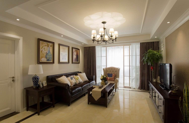 简约美式经典客厅效果图照片墙