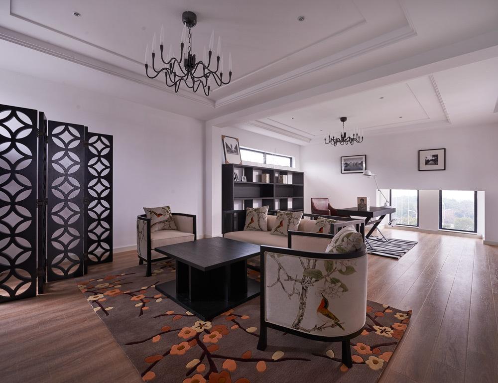 后现代设计装修风格别墅客厅装修图片