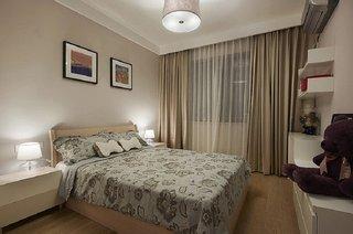 唯美美式风格卧室收纳架设计装修图