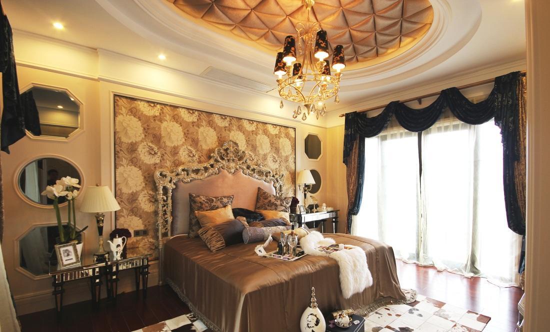 奢华贵族气息巴洛克欧式卧室装饰效果欣赏图