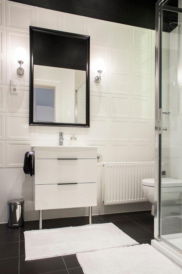 黑白北欧风格卫生间设计效果图片