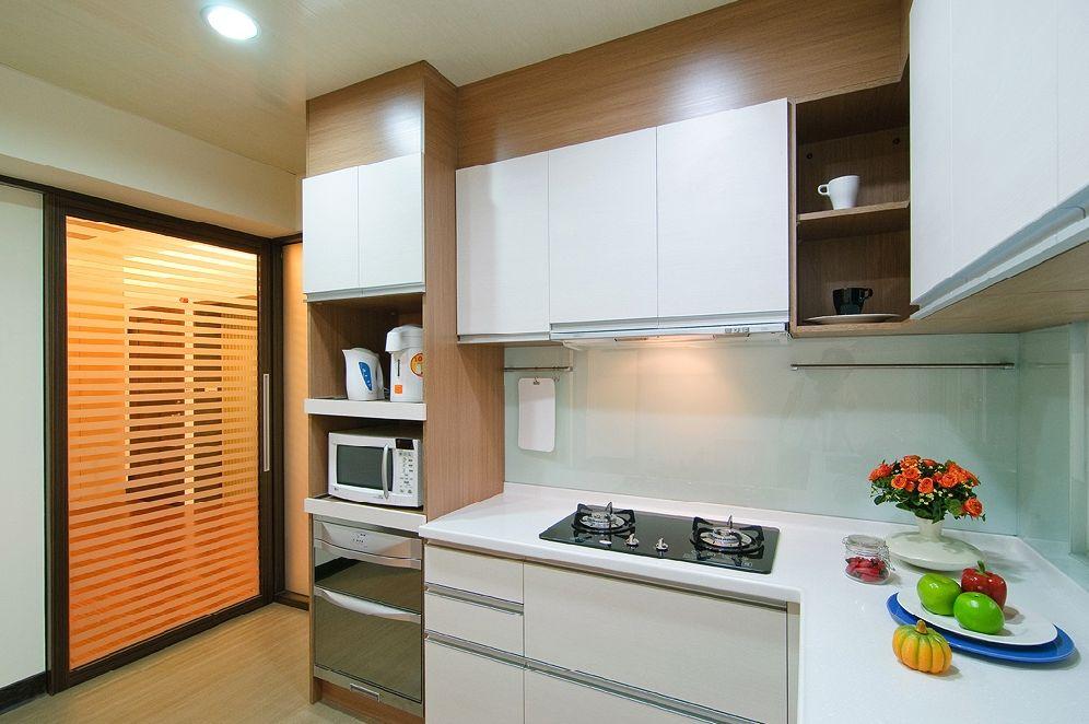 简约中式风格厨房门装饰效果图