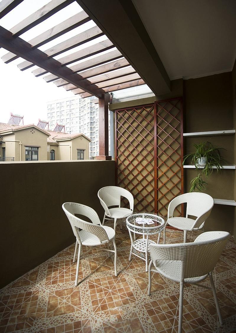 独特地中海风格阳台布置设计图片