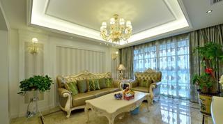 浅绿色欧式风格三居室装修效果图大全