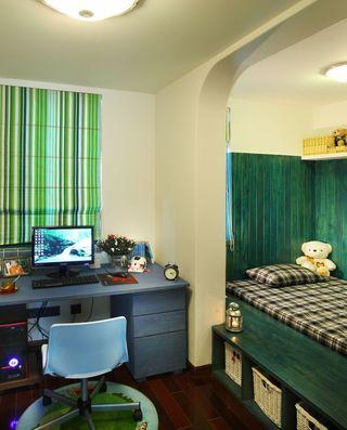 特色绿色美式儿童房装修效果图片
