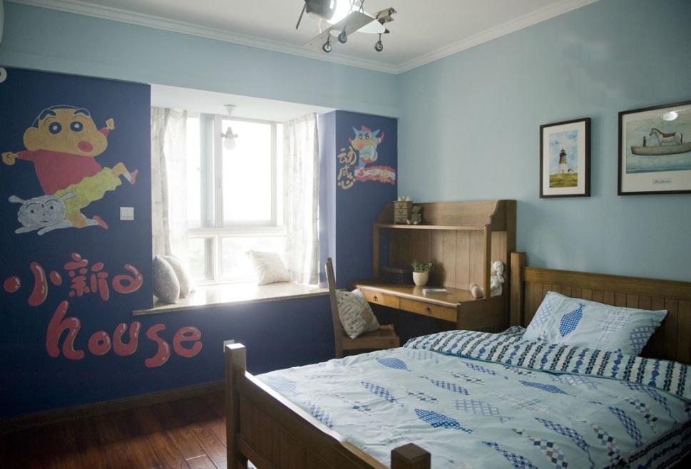 童趣简约田园风格卧室背景墙装修效果图