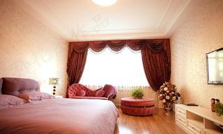 简约复古卧室欧式窗帘效果图