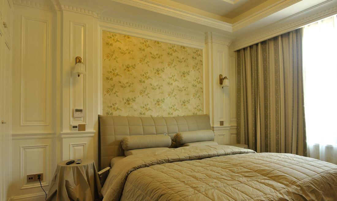 温馨欧式风格卧室软装饰搭配效果图
