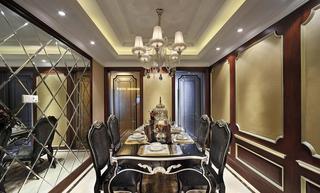 奢华欧式家居豪华餐厅吊顶设计