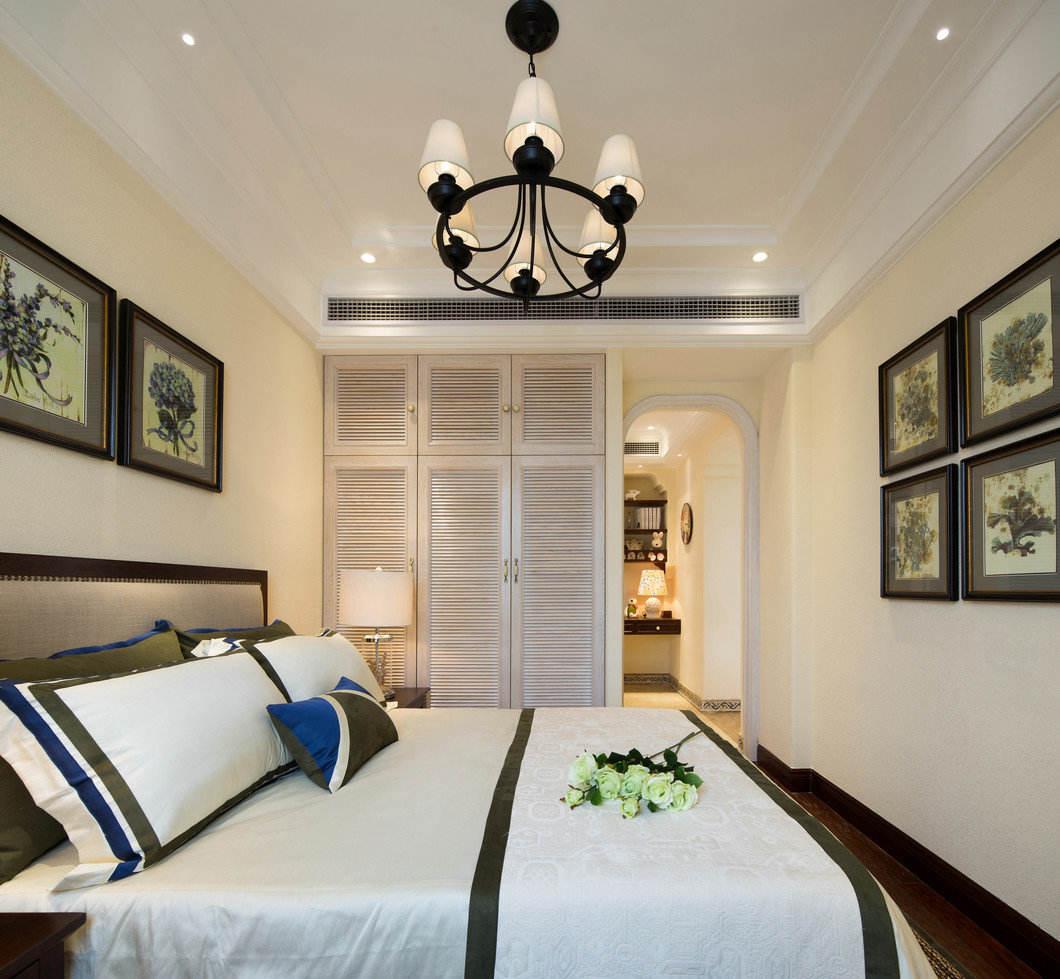 简约清新美式家居卧室吊顶设计