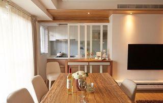 78平温馨暖色美式二居室装修设计欣赏