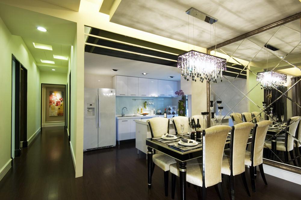 华丽精致现代风厨房餐厅效果图欣赏