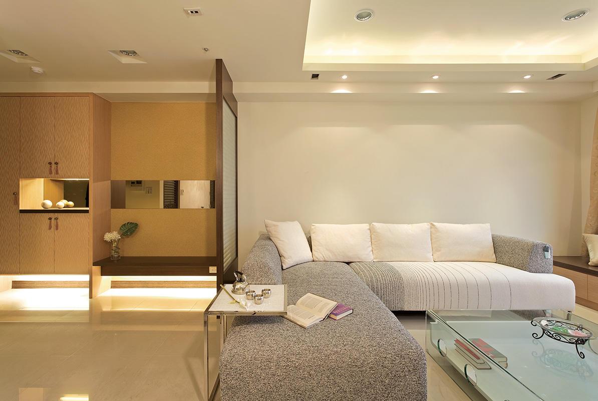 简约二居客厅转角沙发装饰效果图