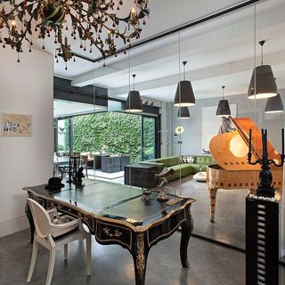 欧式复古混搭玻璃隔断室内设计