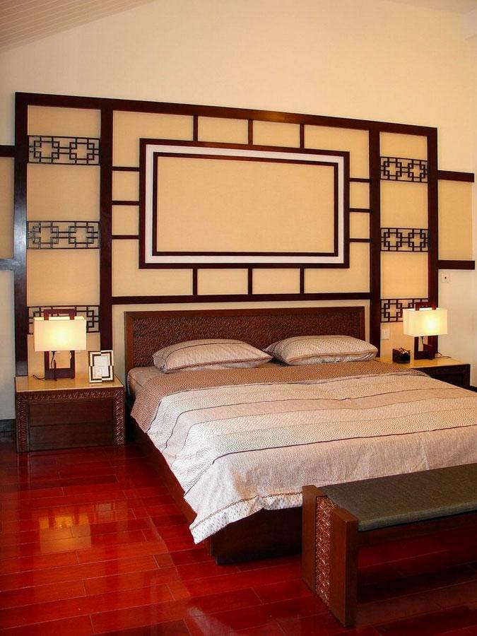 精美中式新古典中式卧室背景墙效果图