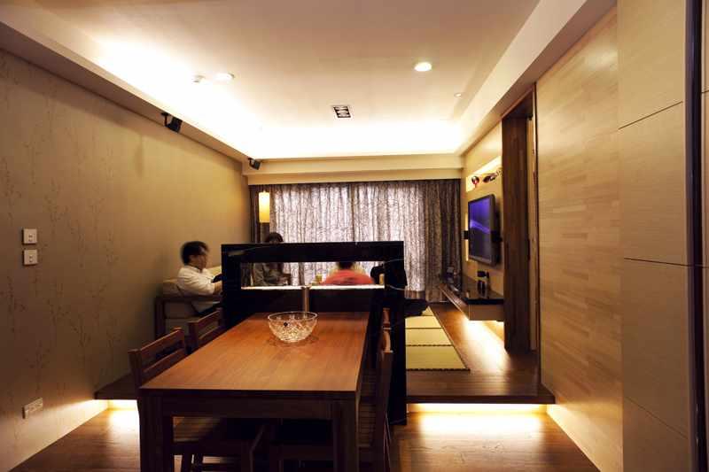 现代成熟风格二居室设计装潢图