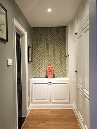 绿色简约美式过道装饰帘设计