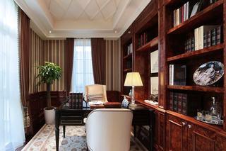 经典欧式实木书房效果图