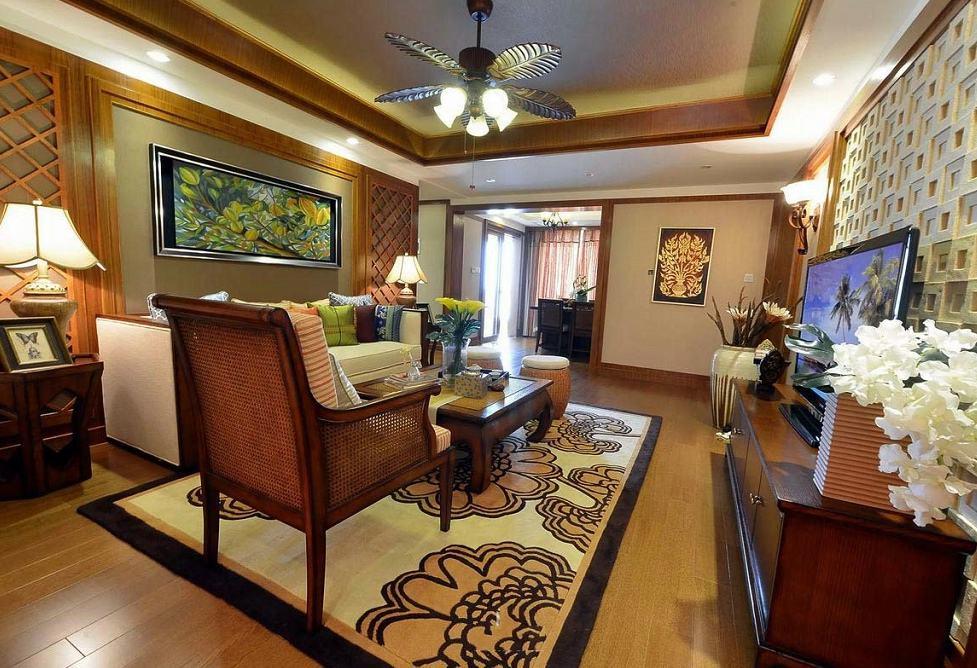 禅意东南亚设计风格别墅室内装饰图
