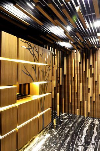 艺术潮流现代风格三室两厅装修案例图
