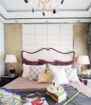 唯美现代欧式卧室床头软包装饰图