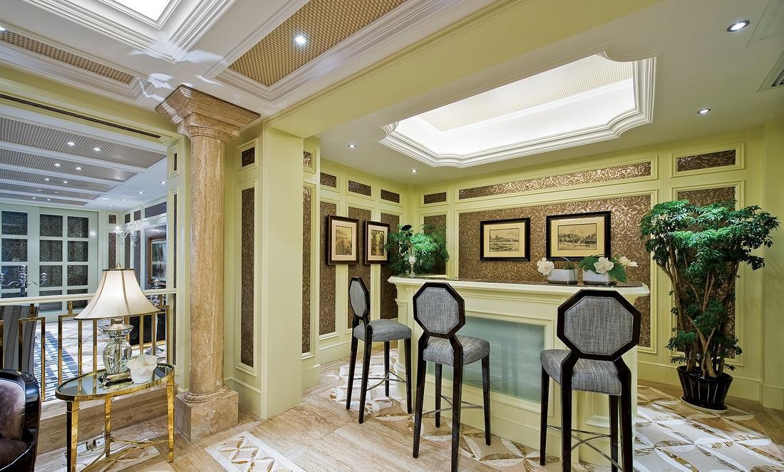 金色奢华欧式吧台设计效果图