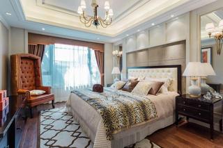 典雅美式风格卧室软装饰装潢效果图