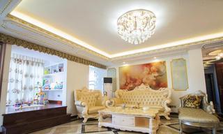 唯美浪漫欧式新古典客厅沙发背景墙效果图
