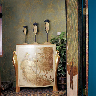复古精致东南亚风格玄关装饰效果图