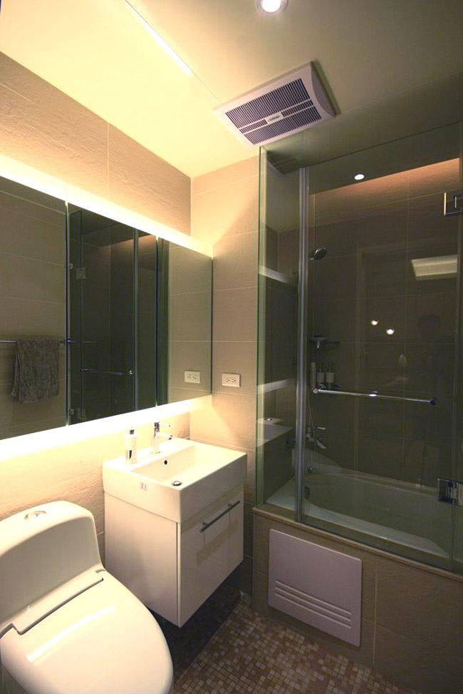 沉静素雅现代装修风格卫生间浴缸设计