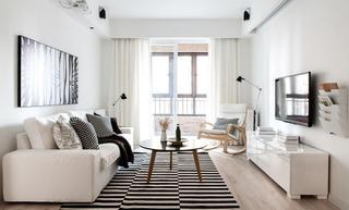 黑白时尚简约北欧客厅装饰大全