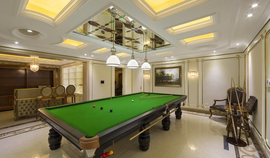 豪华欧式风格别墅休闲桌球室设计装修图