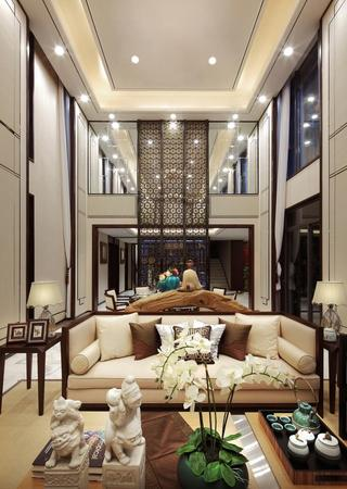 时尚新古典别墅挑高客厅设计欣赏
