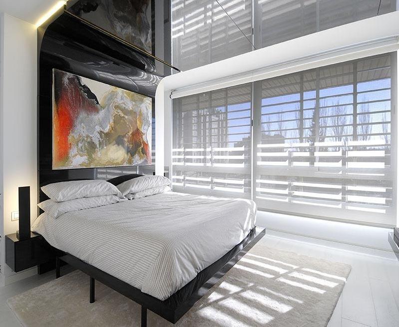 艺术时尚极简现代设计风格公寓卧室装修美图欣赏