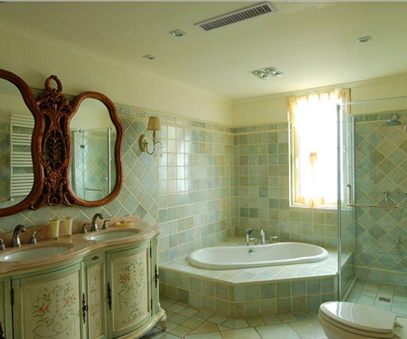 清新美式复古风格卫生间图片