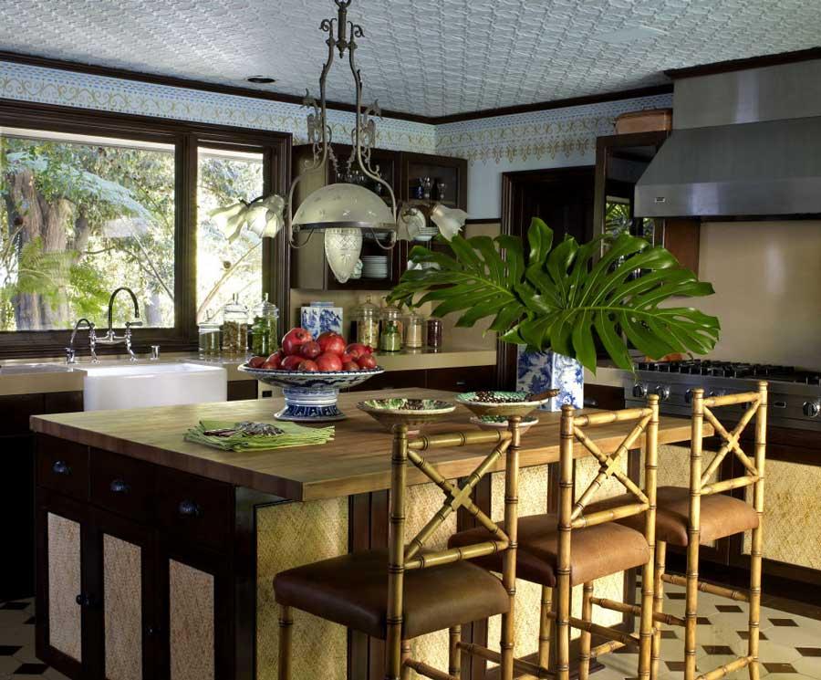复古美式田园风格别墅家装餐厅装潢图片