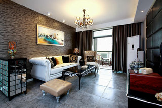 新古典欧式风格客厅相片墙装饰效果图