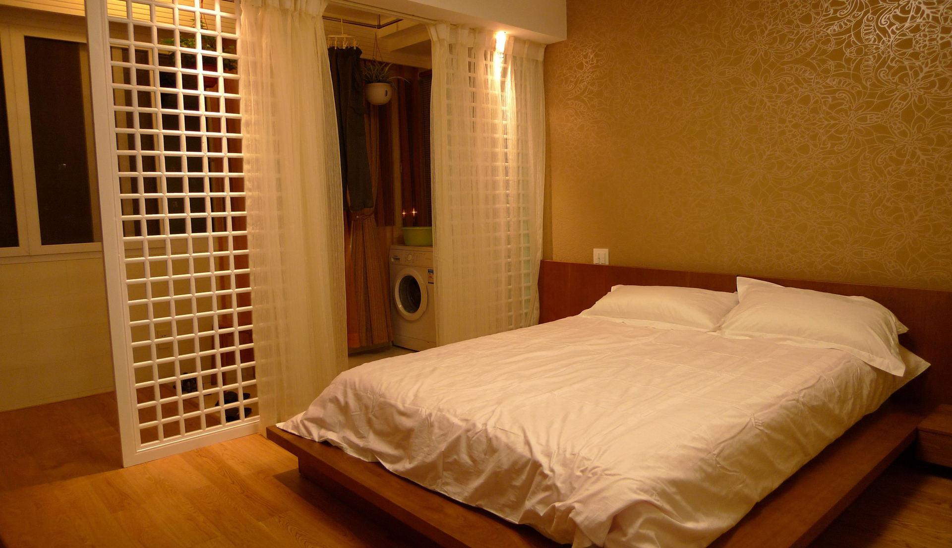 简约日式卧室效果图
