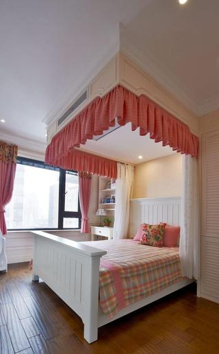 粉嫩美式风格儿童房装修效果图