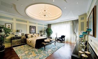 时尚大气豪华欧式风格卧室圆形吊顶效果图