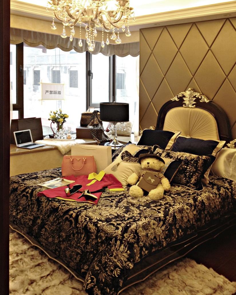 摩登古典欧式风格卧室设计装饰效果图