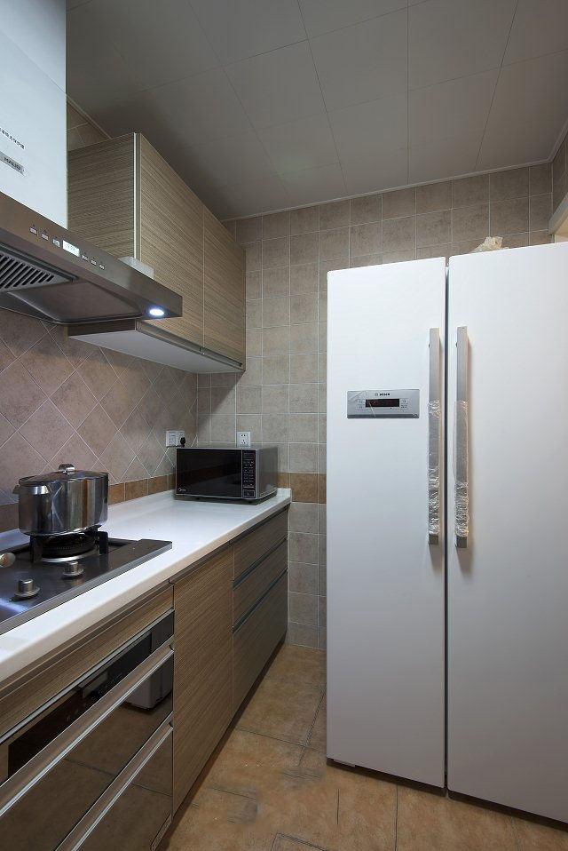 小情调美式风格小户型室内厨房设计装修图片