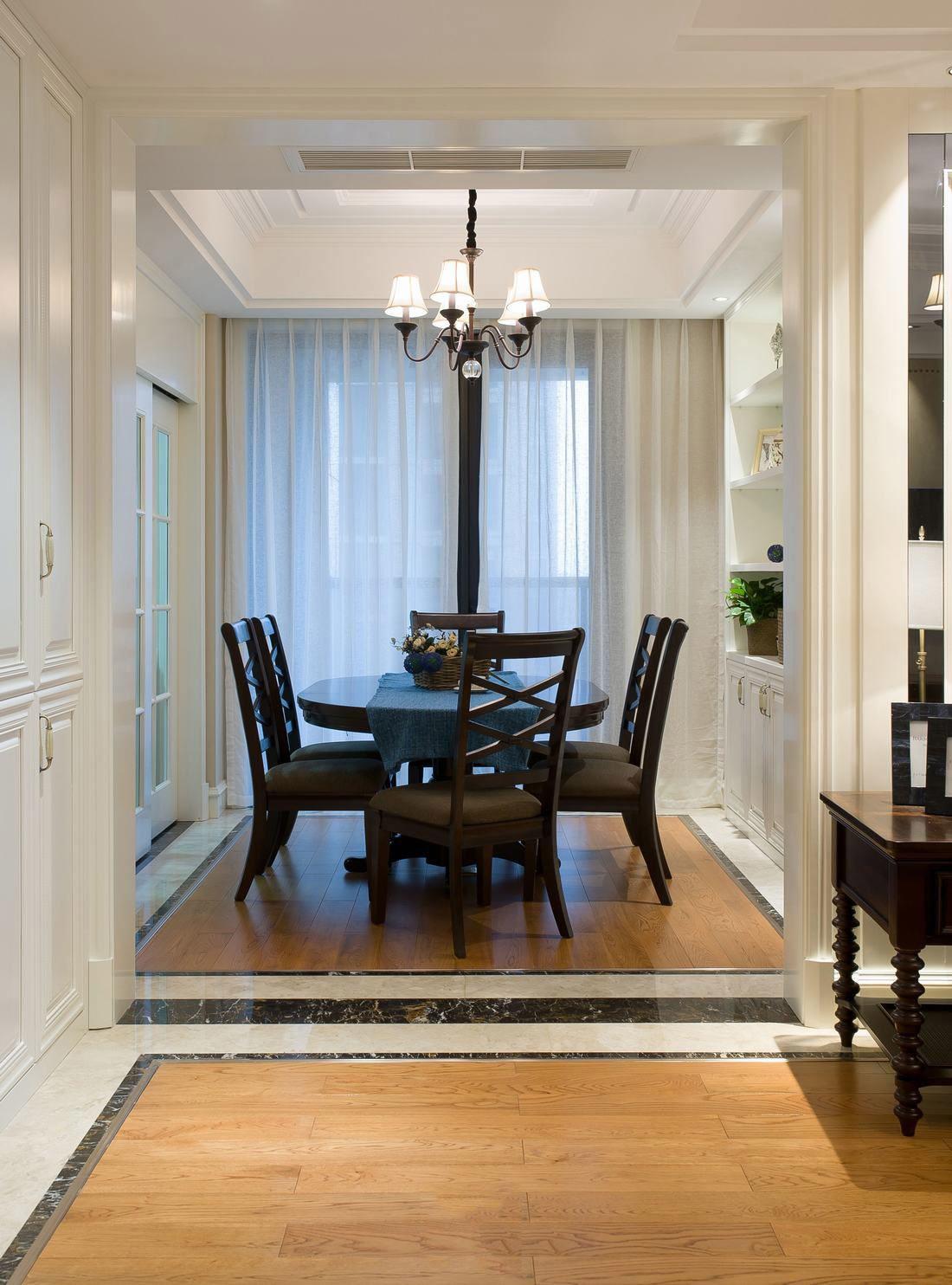 简易清爽美式室内餐厅设计装饰效果图片