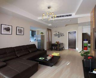 黑白简约设计家装客厅照片墙效果图