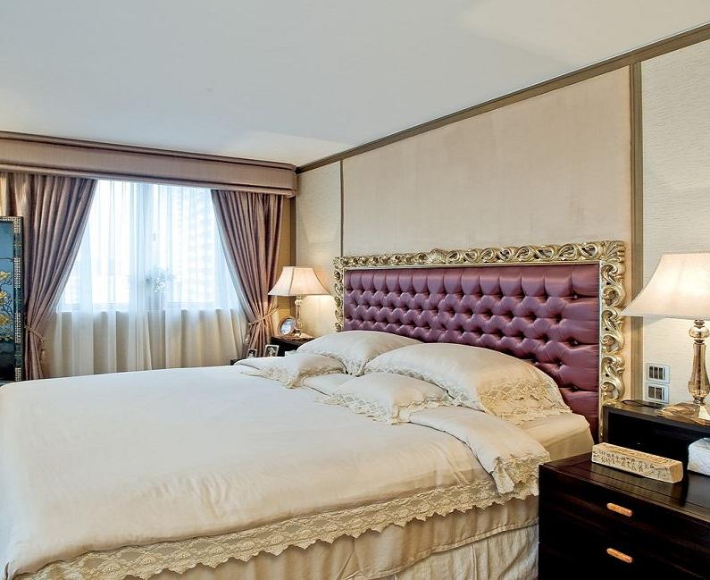 风雅时尚现代设计风格公寓卧室窗帘搭配效果图