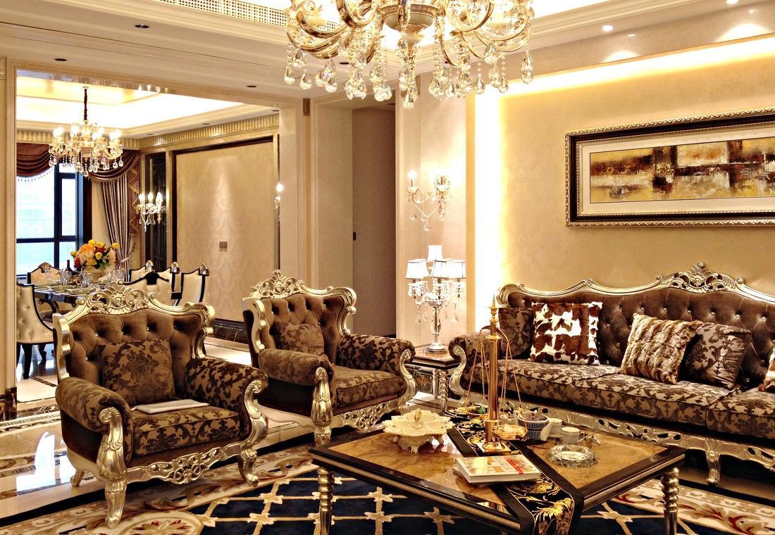 精美奢华欧式设计装修风格三居室欣赏图片